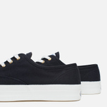 Мужские кеды Maison Kitsune Canvas Rubber Black фото- 5