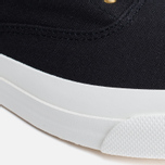 Maison Kitsune Canvas Rubber Men's Plimsoles Black photo- 7