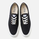 Мужские кеды Maison Kitsune Canvas Rubber Black фото- 4