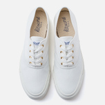Мужские кеды Maison Kitsune Canvas Rubber White фото- 4