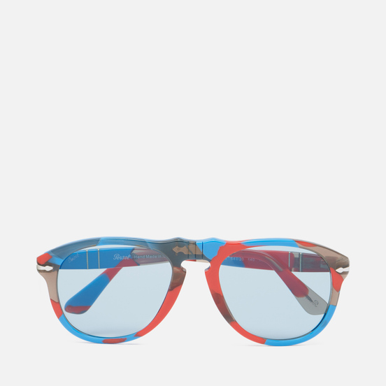 Солнцезащитные очки Persol x JW Anderson 649 Red And Blue Spotted/Blue Vintage