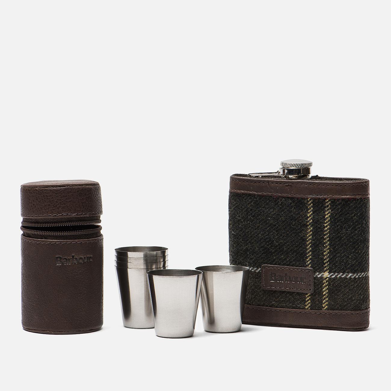 Подарочный набор Barbour Tartan Hip Flask And Cups Classic Tartan
