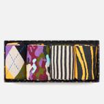 Комплект носков Happy Socks Bark Gift Box Camo Brown/Green/Grey/Orange/Purple фото- 0