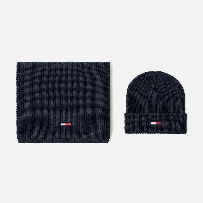 Подарочный набор Tommy Jeans Basic Scarf & Beanie GP Black Iris