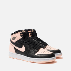 Подростковые кроссовки Jordan Air Jordan 1 Retro High OG GS Black/Crimson Tint/White/Hyper Pink