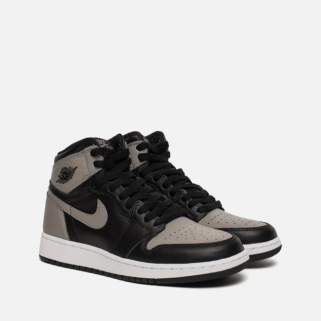 Подростковые кроссовки Jordan Air Jordan 1 Retro High OG GS Black/Medium Grey/White