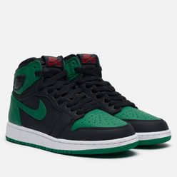 Подростковые кроссовки Jordan Air Jordan 1 Retro High OG GS Black/Pine Green/White/Gym Red