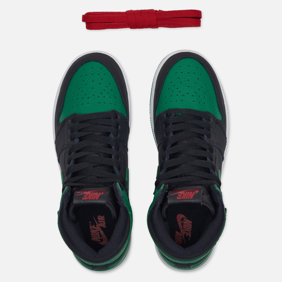 Подростковые кроссовки Jordan Air Jordan 1 Retro High OG GS Black/Pine Green/White/Gym Red