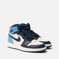 Подростковые кроссовки Jordan Air Jordan 1 Retro High OG GS Sail/Obsidian/University Blue