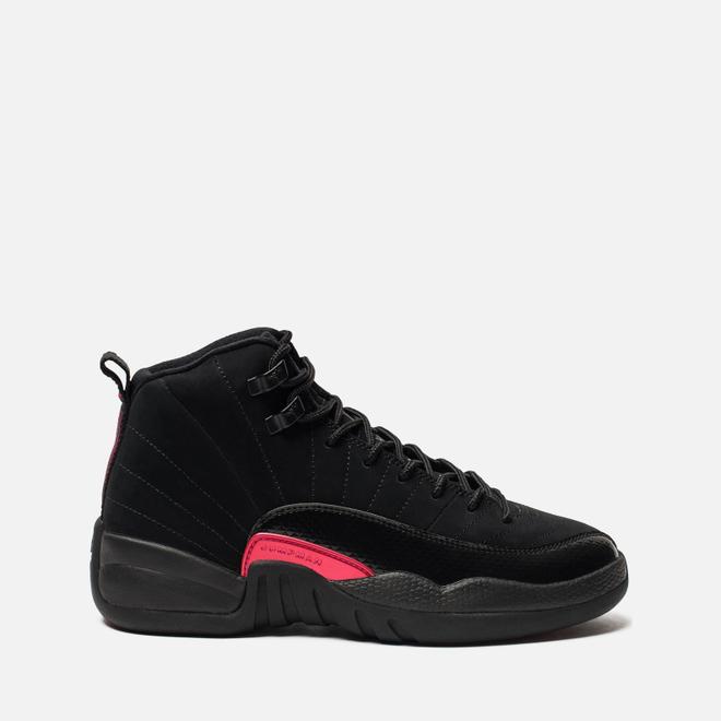 Подростковые кроссовки Jordan Air Jordan 12 Retro GS Black/Dark Grey/Rush Pink