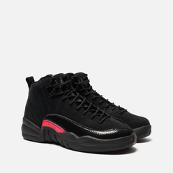 Подростковые кроссовки Jordan Air Jordan 12 Retro GS Black/Dark Grey/Rush Pink