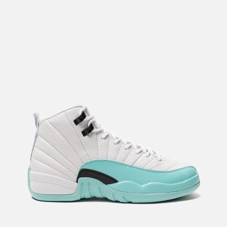 Подростковые кроссовки Jordan Air Jordan 12 Retro GS White/Light Aqua/Black