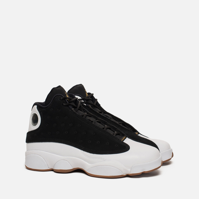 Подростковые кроссовки Jordan Air Jordan 13 Retro GS Black/Metallic Gold/White/Gum Medium Brown
