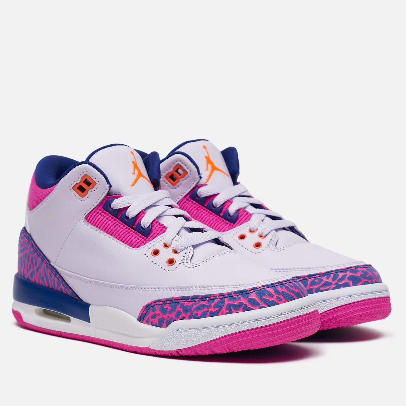 Подростковые кроссовки Jordan Air Jordan 3 Retro GS Barely Grape/Hyper Crimson/Fire Pink