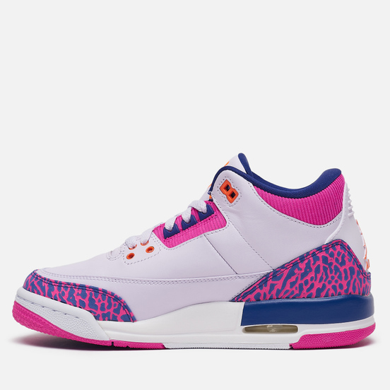 Подростковые кроссовки Jordan Air Jordan 3 Retro GS Barely Grape/Hyper Crimson/Fire Pink