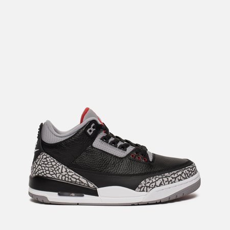 Подростковые кроссовки Jordan Air Jordan 3 Retro OG GS Black/Cement Grey/White/Fire Red