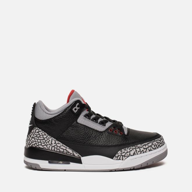 Подростковые кроссовки Jordan Air Jordan 3 Retro OG GS Black/Cement Grey/White/Fire Red
