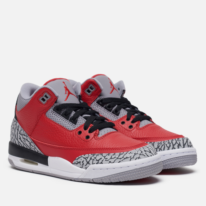Подростковые кроссовки Jordan Air Jordan 3 Retro SE GS Fire Red/Fire Red/Cement Grey/Black