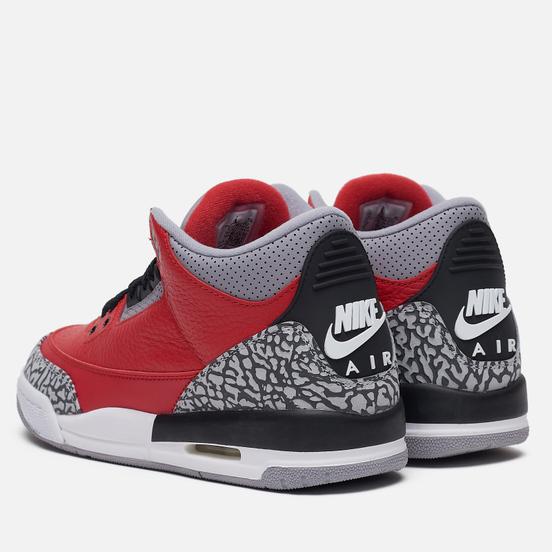 Подростковые кроссовки Jordan Air Jordan 3 Retro SE GS Fire Red/Fire Red/Cement Grey/Black
