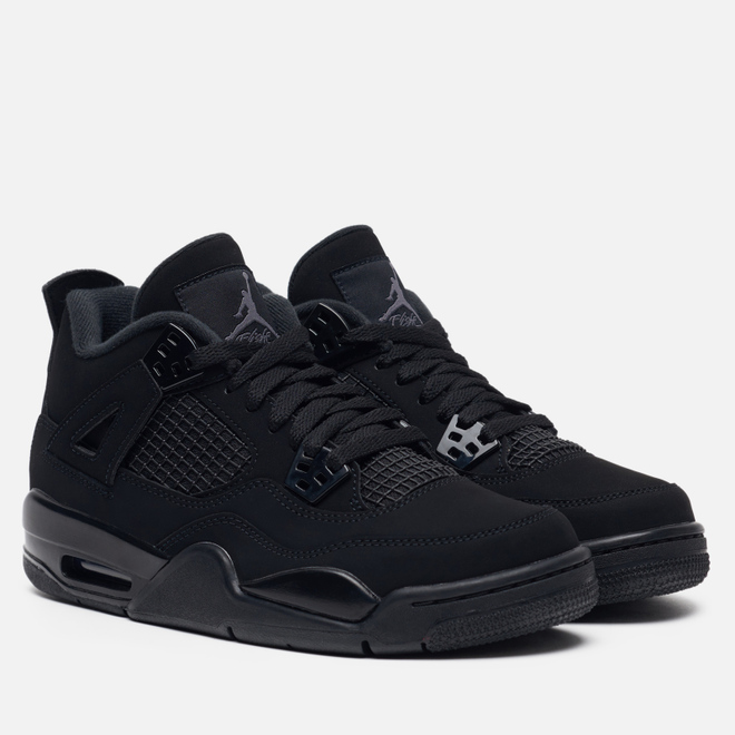 Подростковые кроссовки Jordan Air Jordan 4 Retro GS Black/Black/Light Graphite
