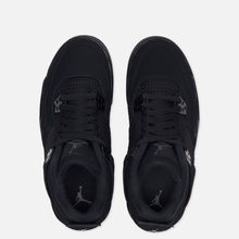 Подростковые кроссовки Jordan Air Jordan 4 Retro GS Black/Black/Light Graphite фото- 1
