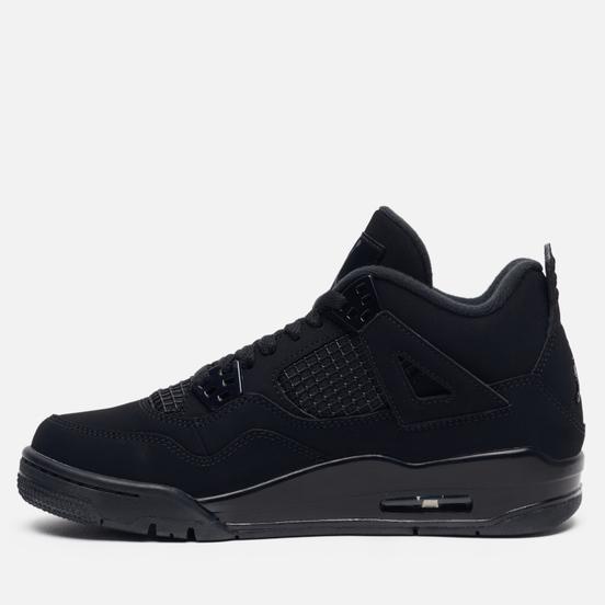 Подростковые кроссовки Jordan Air Jordan 4 Retro GS Black/Black/Light Graphite