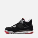 Подростковые кроссовки Jordan Air Jordan 4 Retro GS Black/Fire Red/Cement Grey/Summit White фото- 1