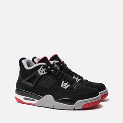 Подростковые кроссовки Jordan Air Jordan 4 Retro GS Black/Fire Red/Cement Grey/Summit White