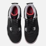 Подростковые кроссовки Jordan Air Jordan 4 Retro GS Black/Fire Red/Cement Grey/Summit White фото- 5