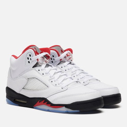 Подростковые кроссовки Jordan Air Jordan 5 Retro GS True White/Fire Red/Black