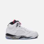 Подростковые кроссовки Jordan Air Jordan 5 Retro GS White/University Red/Black фото- 0