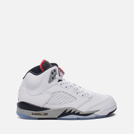 Подростковые кроссовки Jordan Air Jordan 5 Retro GS White/University Red/Black
