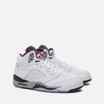 Подростковые кроссовки Jordan Air Jordan 5 Retro GS White/University Red/Black фото- 2