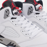 Подростковые кроссовки Jordan Air Jordan 5 Retro GS White/University Red/Black фото- 3
