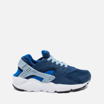 Nike Air Huarache Run GS Children's Sneakers Navy/White photo- 0