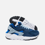 Nike Air Huarache Run GS Children's Sneakers Navy/White photo- 2