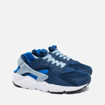 Nike Air Huarache Run GS Children's Sneakers Navy/White photo- 1