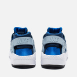 Nike Air Huarache Run GS Children's Sneakers Navy/White photo- 3