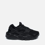 Подростковые кроссовки Nike Air Huarache Run GS Triple Black фото- 0