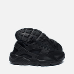 Nike Air Huarache Run GS Teen Sneakers Triple Black photo- 1