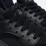 Подростковые кроссовки Nike Air Huarache Run GS Triple Black фото- 3