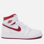 Подростковые кроссовки Jordan Air Jordan 1 Retro High OG BG White/Metallic Red/White фото- 0