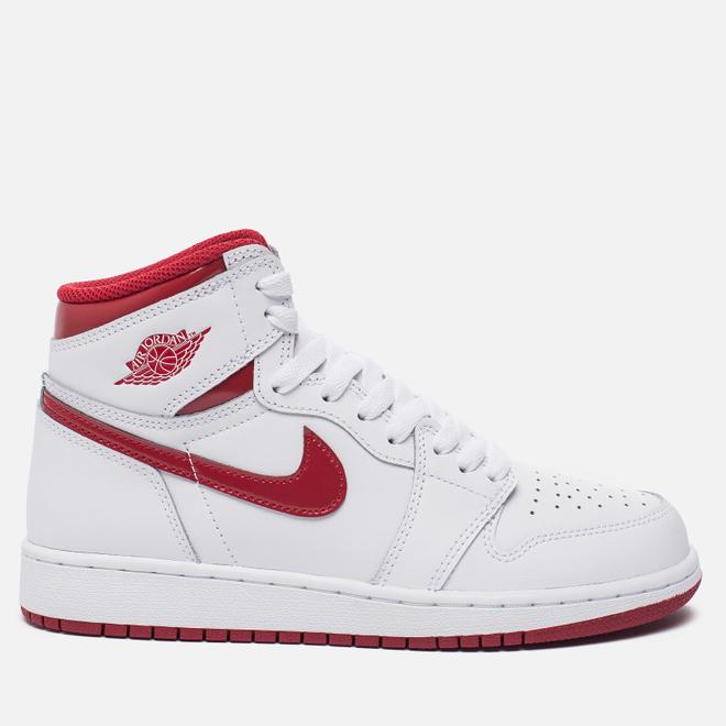 Подростковые кроссовки Jordan Air Jordan 1 Retro High OG BG White/Metallic Red/White