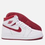 Подростковые кроссовки Jordan Air Jordan 1 Retro High OG BG White/Metallic Red/White фото- 1