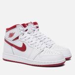 Подростковые кроссовки Jordan Air Jordan 1 Retro High OG BG White/Metallic Red/White фото- 2