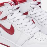 Подростковые кроссовки Jordan Air Jordan 1 Retro High OG BG White/Metallic Red/White фото- 3