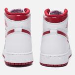 Подростковые кроссовки Jordan Air Jordan 1 Retro High OG BG White/Metallic Red/White фото- 5