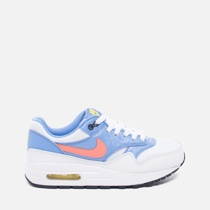 Подростковые кроссовки Nike Air Max 1 GS White/Bright Mango/Chalk/Blue