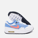 Подростковые кроссовки Nike Air Max 1 GS White/Bright Mango/Chalk/Blue фото- 2