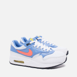 Подростковые кроссовки Nike Air Max 1 GS White/Bright Mango/Chalk/Blue фото- 1